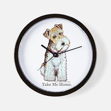 Homeless Fox Terrier Wall Clock