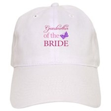 Grandmother Of The Bride (Butterfly) Baseball Cap