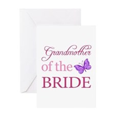 Grandmother Of The Bride (Butterfly) Greeting Card