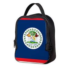 Cool Belize flag Neoprene Lunch Bag