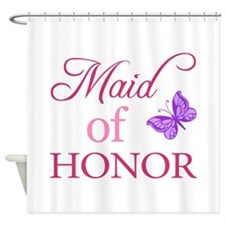 Maid Of Honor (Butterfly) Shower Curtain