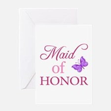 Maid Of Honor (Butterfly) Greeting Card