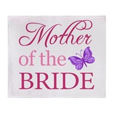 Mother Of The Bride (Butterfly) Throw Blanket