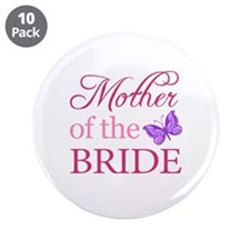 """Mother Of The Bride (Butterfly) 3.5"""" Button (10 pa"""