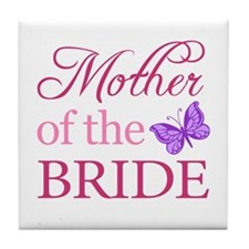 Mother Of The Bride (Butterfly) Tile Coaster