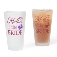 Mother Of The Bride (Butterfly) Drinking Glass