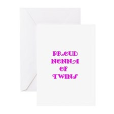 Proud Nonna of Twins Greeting Cards (Pk of 10)