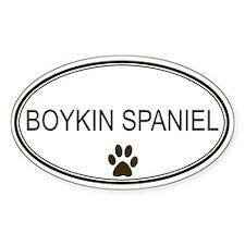Oval Boykin Spaniel Oval Decal