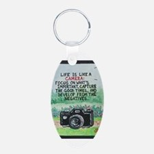 """"""" LIFE is like a Camera """" / Sculpted Art Keychains"""