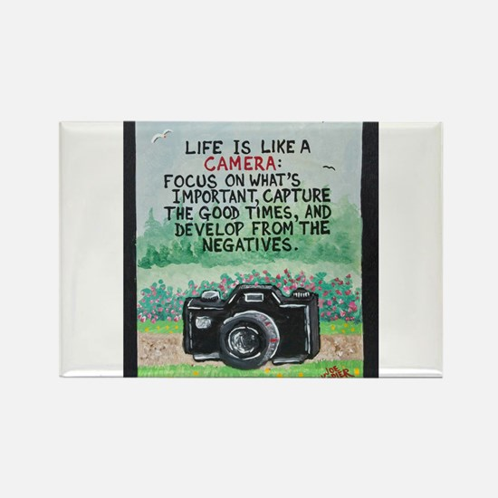 """ LIFE is like a Camera "" / Sculpted Art Rectangle"