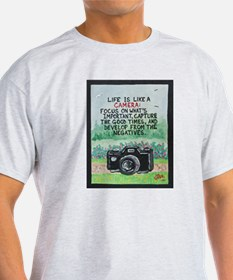 """ LIFE is like a Camera "" / Sculpted Art T-Shirt"
