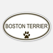 Oval Boston Terrier Oval Decal