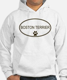 Oval Boston Terrier Hoodie