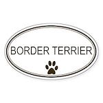 Oval Border Terrier Oval Sticker