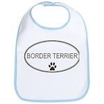 Oval Border Terrier Bib