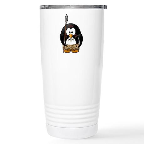 Tribal Penguin Stainless Steel Travel Mug