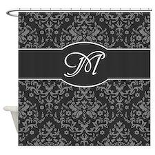 Monogram Damask Shower Curtain