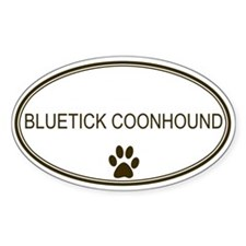 Oval Bluetick Coonhound Oval Decal