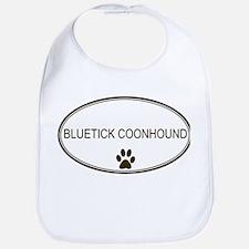 Oval Bluetick Coonhound Bib