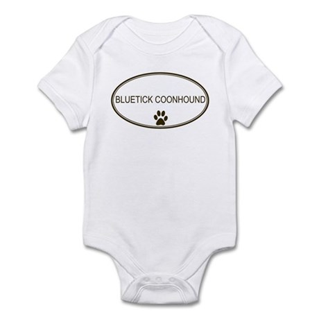 Oval Bluetick Coonhound Infant Bodysuit