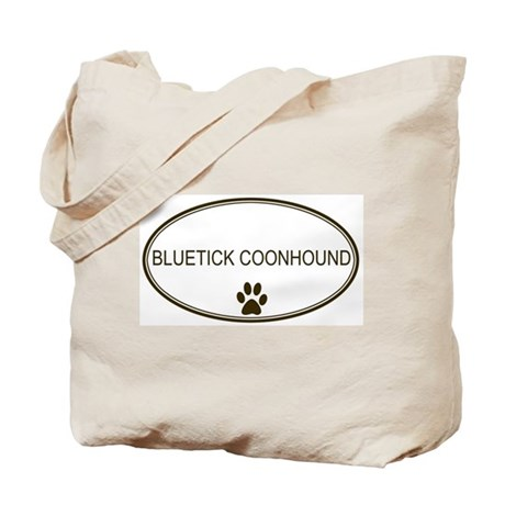 Oval Bluetick Coonhound Tote Bag