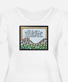 The Rollercoaster / Sculpted Art Plus Size T-Shirt