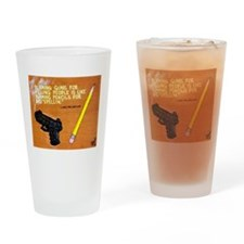 Guns Pencils / Sculpted Art Drinking Glass