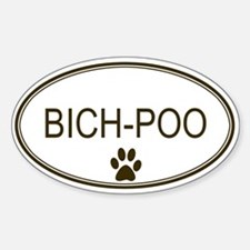 Oval Bich-Poo Oval Decal