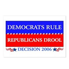 Democrats Rule Postcards (Package of 8)