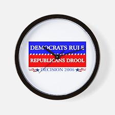 Democrats Rule Wall Clock
