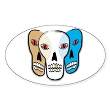 3 Skullz Oval Decal