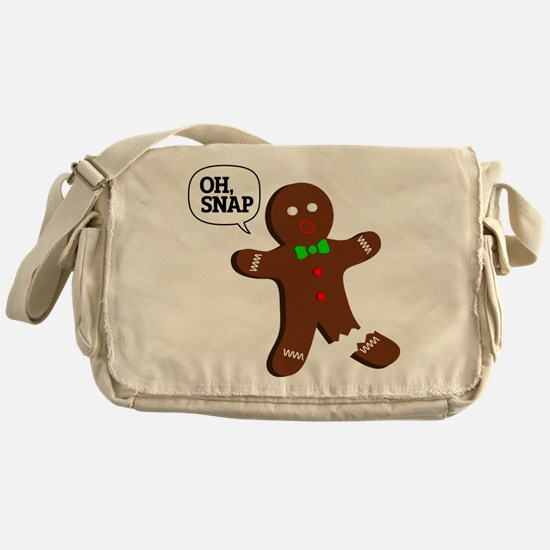 Oh Snap Gingerbread Man Messenger Bag