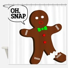 Oh Snap Gingerbread Man Shower Curtain