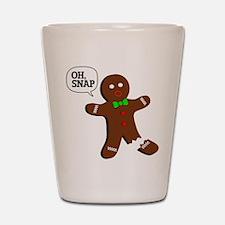 Oh Snap Gingerbread Man Shot Glass