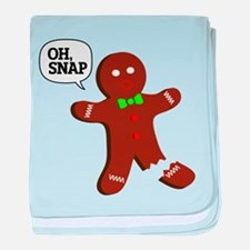 Oh Snap Gingerbread Man baby blanket