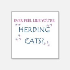 Herding cats color Sticker