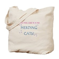 Herding cats color Tote Bag