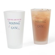Herding cats color Drinking Glass