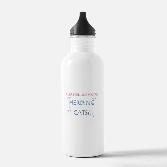 Herding cats color Water Bottle