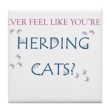 Herding cats color Tile Coaster