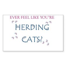 Herding cats color Decal