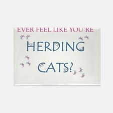 Herding cats color Rectangle Magnet