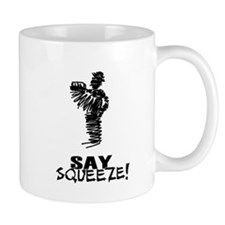 Say Squeeze scribbled design accordion player Mug