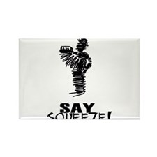 Say Squeeze scribbled design accordion player Rect