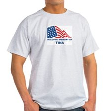 Loving Memory of Tina Ash Grey T-Shirt