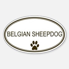 Oval Belgian Sheepdog Oval Decal