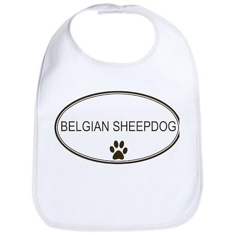 Oval Belgian Sheepdog Bib