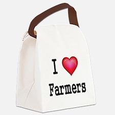 I LOVE FARMERS Canvas Lunch Bag