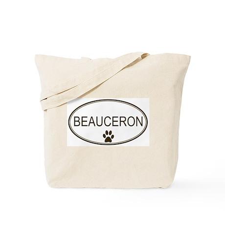 Oval Beauceron Tote Bag