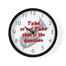 Tuba or not Tuba Wall Clock